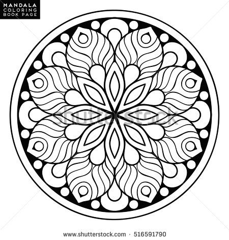 Mandala designs coloring pages templates