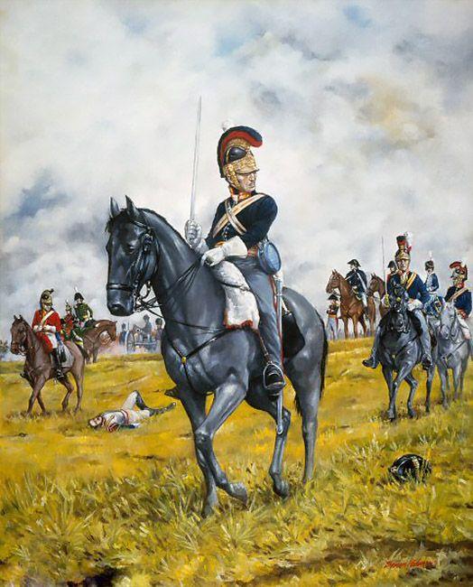 Royal Horse Guards en Waterloo, cortesía de Brian Palmer.