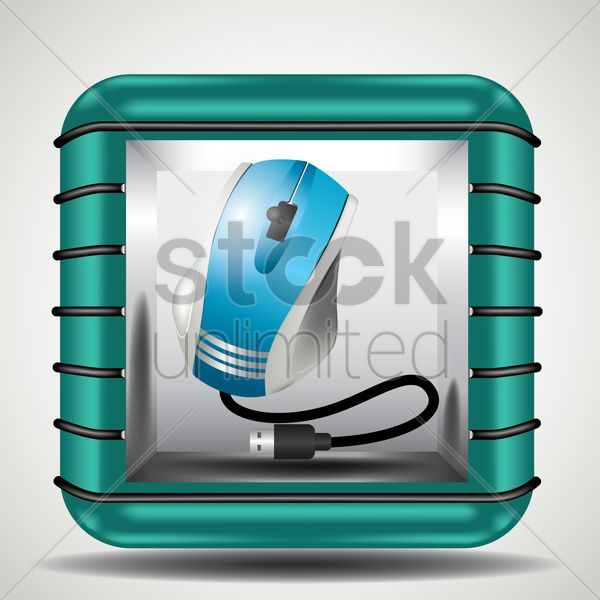 computer mouse vector graphic