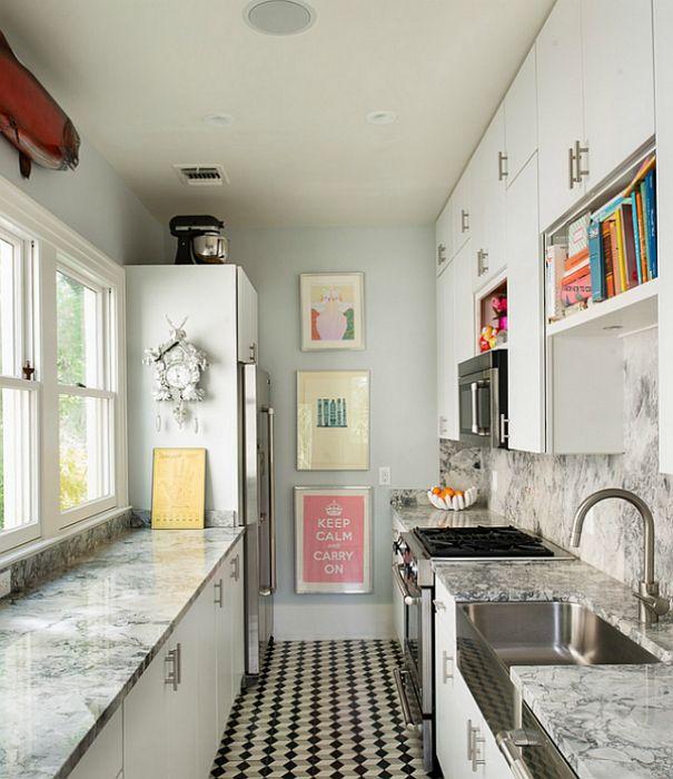 Оригинальные аксессуары на маленькой кухни.