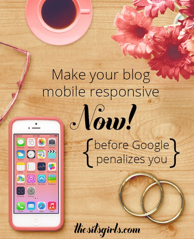 Is your blog or website mobile-friendly? If not, Google is going to penalize you in search! Find out how to check if your blog meets their standards and what to do if it doesn't! | SEO
