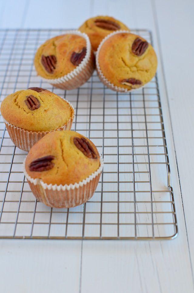 pompoen muffins \ pumpkin muffins #nosugar #maple syrup #pumpkin #recipe