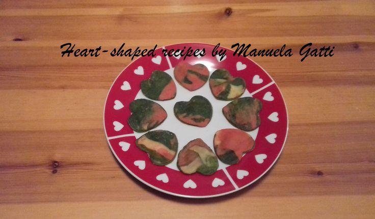 marbled heart shaped ravioli