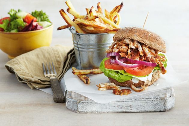 Friends and family will love this delicious chicken burger that comes packed with extra flavours.