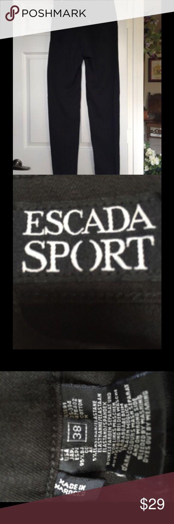Escada Sport Black Jeans Black denim chains by Escada Sport Escada Sport Jeans Straight Leg