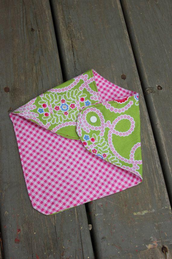Handmade Baby Bandit Handkerchief Bib - Fancy Floral on Etsy, $10.50 CAD
