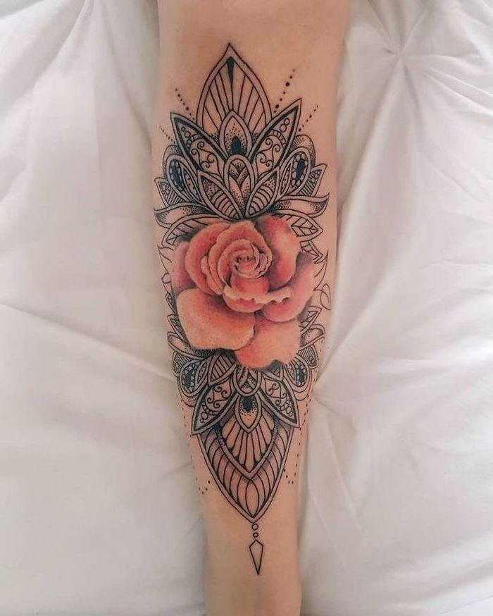 Lotus Mandala Tattoo Design Sleeve Tattoos Girly Tattoos Tattoos