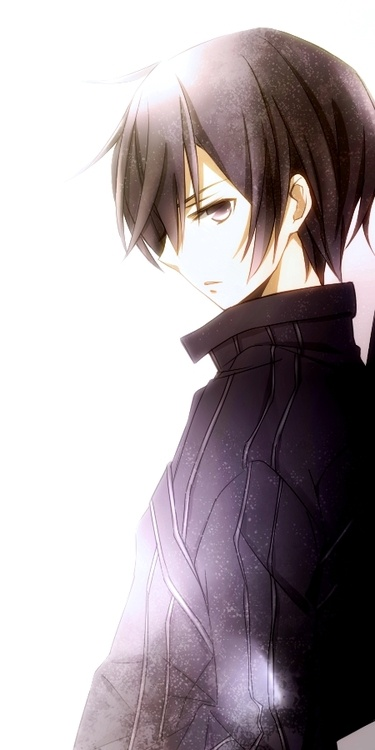 Nico di Angelo, anime style >o< We need to stop with the hot PJO/HoO anime guys, my heart's gonna explode. (This is actually a character named Kirito from SAO, I think. But, ah well :D)