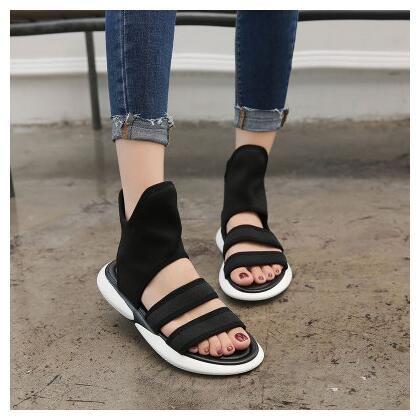 2018 Summer Korean Tide Retro Flat Ankle Boots Sandals Women Joker Casual Cool B…