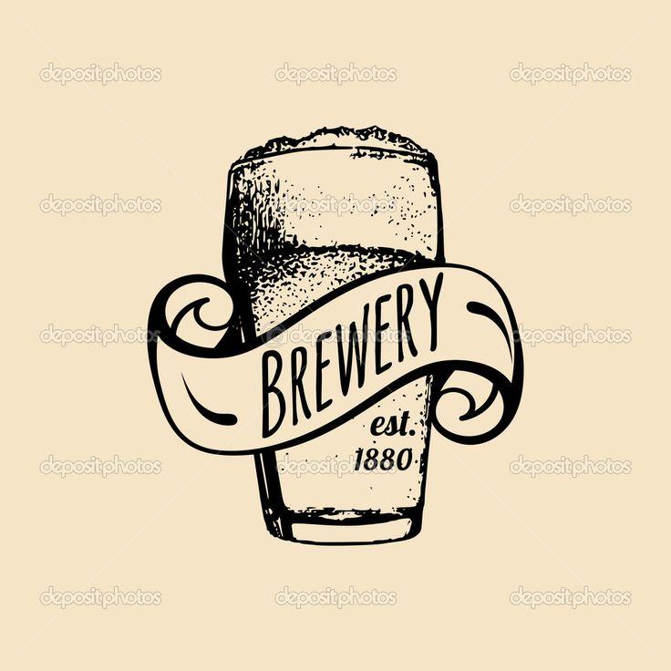 Logo de cerveza vintage — Ilustración de stock #87209540