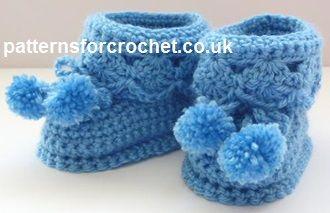 Free baby crochet pattern Booties for best UK