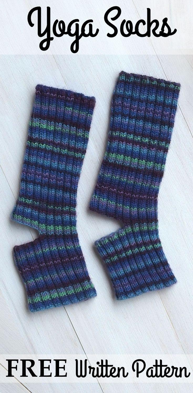31 besten Yoga socks knit patterns Bilder auf Pinterest | Gestrickte ...