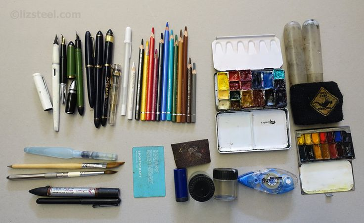 Liz Steel: art supplies