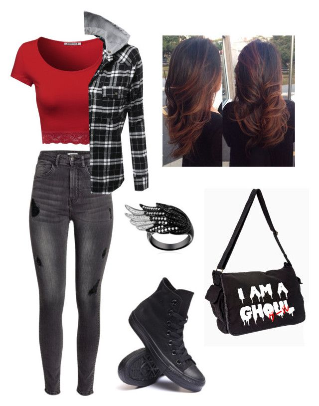 Untitled #71 by weird-fangirl on Polyvore featuring polyvore, fashion, style, H&M and Converse