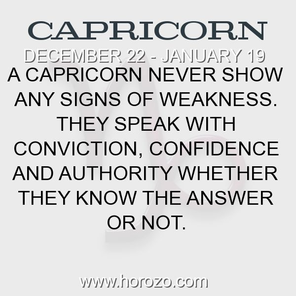 Fact about Capricorn: A Capricorn never show any signs of weakness. They speak... #capricorn, #capricornfact, #zodiac. Find new friends who are also Capricorn. Have Fun Now:  https://www.horozo.com