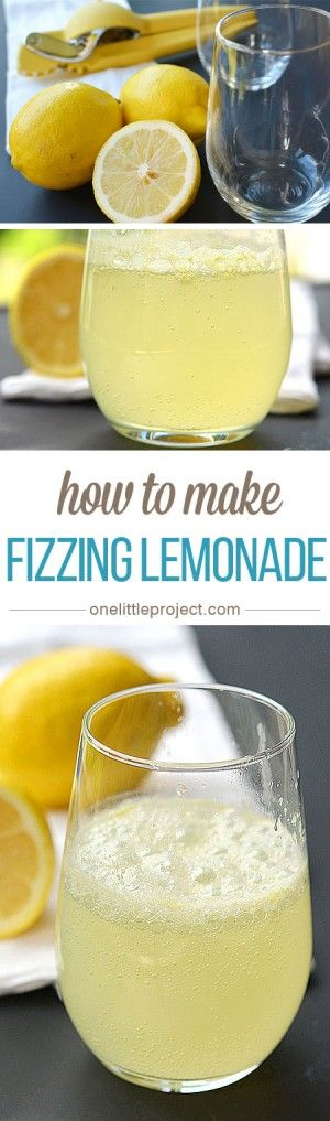 This fizzing lemonade is a great experiment to teach kids about chemical reactions. Teach them about acids and bases AND make your own carbonated drinks!