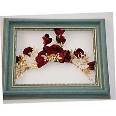 Crystal Alloy Fabric Headpiece-Wedding Special Occasion Outdoor Tiaras Headbands 1 Piece