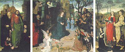 フーゴー・ファン・デル・グース 「ポルティナーリの三連祭壇画」(1475)