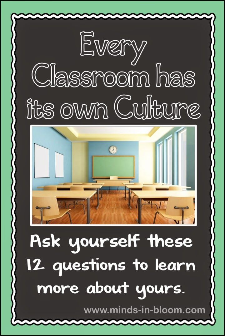 Every classroom has a culture. Some aspects of your classroom culture might have evolved organically while others have been carefully planned and implemented. You may be pleased with someaspects of your classroom culture and not so pleased with others. As the teacher, you are the primary architect of your classroom culture. For that reason, it may be good to reflect a bit and see if