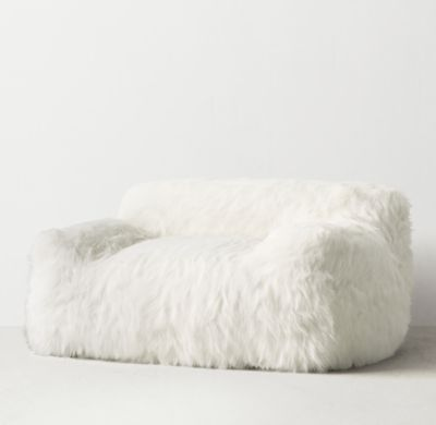 RH TEENs Berlin Lounge Kashmir Faux Fur ChairThe Next Generation Bean Bag Our Collection Body Conforming Foam And Bead Insert Ensures Classic Sink In