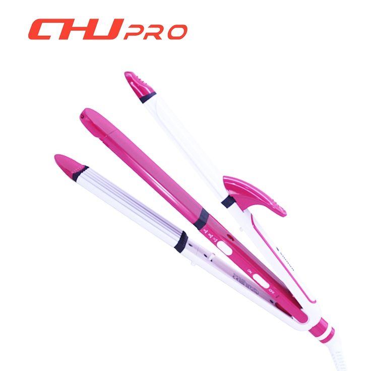 16.38$  Buy here - http://ali4jo.shopchina.info/1/go.php?t=32650404155 - CHJ Hair Curler 3 IN1 Hair Curling Iron Ceramic Flat Iron Hair Crimper Hair Curler Iron Roller  SH8088 Wholesale  #buyonlinewebsite