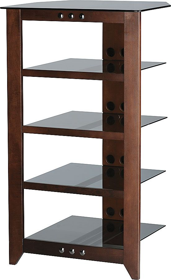 The NFA245 Component Stand From Sanus Features Five Tempered Glass Shelves  For Your Audio/video