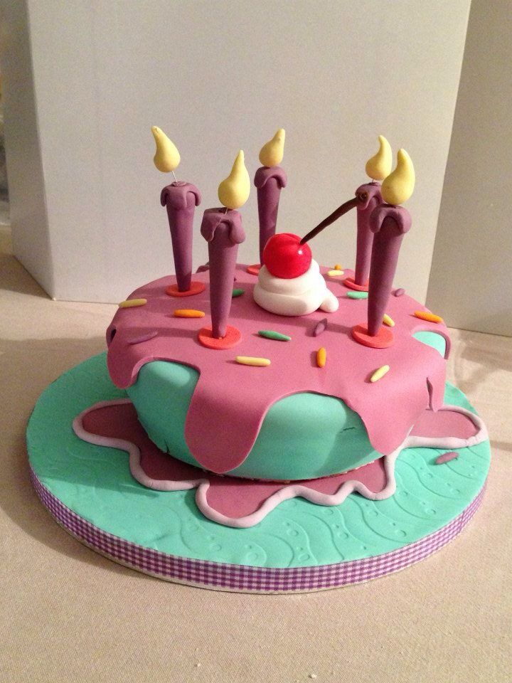Whimsical birthday cake