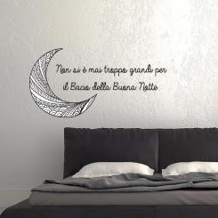 Non si è mai troppo grandi per il bacio della buona notte Wall Sticker Adesivo da Muro