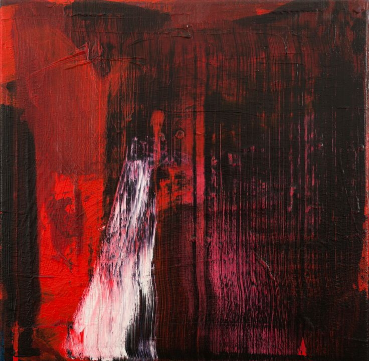 Geoff Hands - 'Untitled (Two Reds') 2012-13 acrylic on canvas 50X50cm