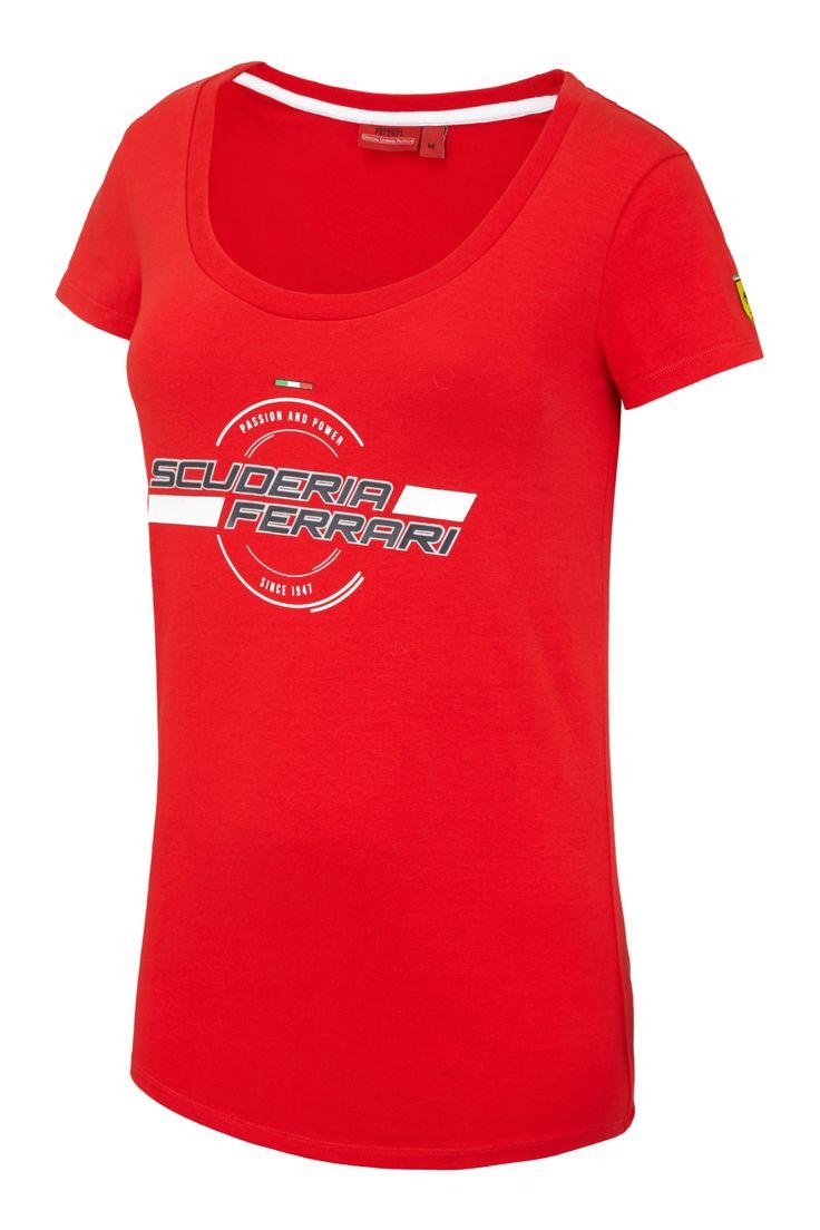 Koszulka damska model 1947 SF z kolekcji Scuderia Ferrari CZERWONY | FERRARI  WOMEN \ T-