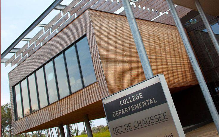 Não somos pisos vinílicos, somos pisos de borracha. Os pisos Nora são 100% de borracha, baseados em qualidade e sustentabilidade com mais de 300 variações de cores e design, totalmente ergonômico, certificação LEED, resistente a manchas, ao grande tráfego comercial e voltado para diversas aplicações. Instalação do piso de borracha noraplan stone acoustic pelo escritório de arquitetura LCR ARCHITECTURE no Collège Jean Mermoz, Biscarrosse | França.