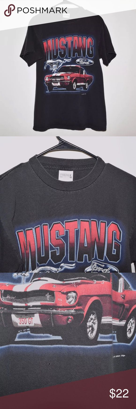 Rare 90 s vintage vtg 1999 ford mustang 350 gt tee