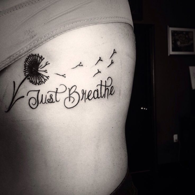 Just Breathe Tattoo Quotes Image Quotes At Hippoquotes Com: Dandelion Tattoo #flower #weed #plant #just Breathe #cute