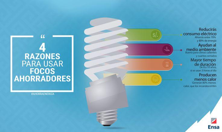 Conoce 4 razones para qué uses Focos Ahorradores  #ConsejosEnsa