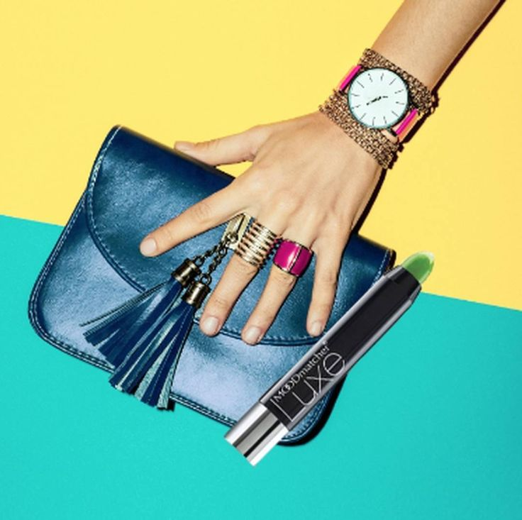 On the run? Dont forget your daily essential! Which color are you wearing today? #MOODmatcher #lipstick #ontherun #green