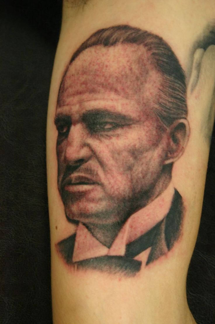 Marlon Brando Godfather Portrait Tattoo by Corey Miller
