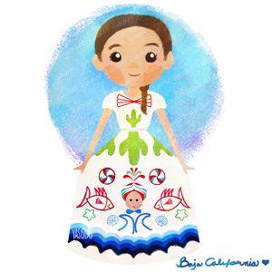 México colores y diseños de sus trajes típicos Baja California Norte