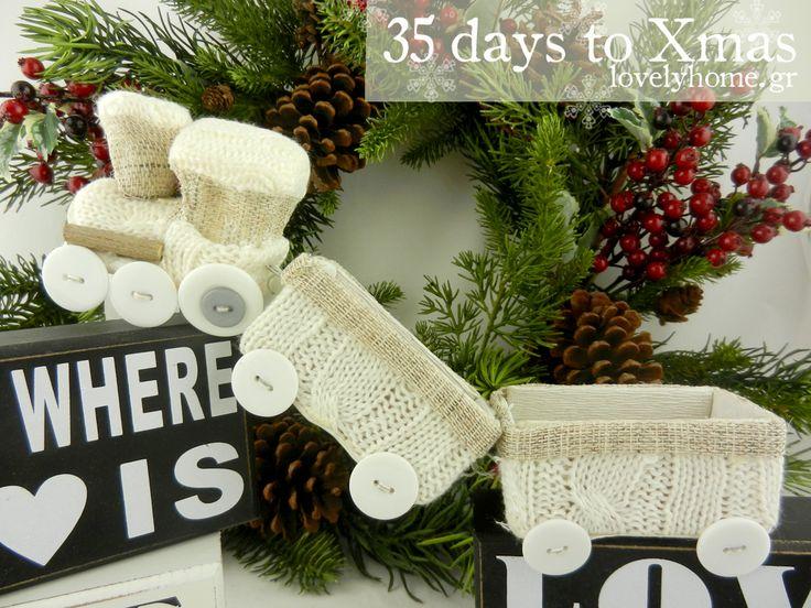 35 μέρες μέχρι τα Χριστούγεννα! Μπορεί εμείς να έχουμε διακοσμητικά τρενάκια ντυμένα με πλεκτό, για να διακοσμήσεις το χριστουγεννιάτικο χωριό που θα φτιάξεις σε κάποια γωνιά του σπιτιού σου, για εσένα όμως ευχόμαστε να κάνεις αληθινά ταξίδια σε όλο τον κόσμο!