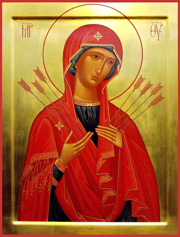 "Icon of the Mother of God ""of the Seven Arrows"" - Orthodox Church in America"