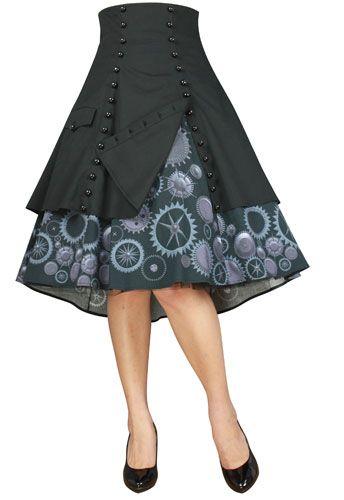 Steam Punk Gear Skirt by Amber Middaugh -Save 37% at Chicstar.com Coupon: AMBER37