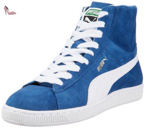 Puma  Suede Mid Classics, basket homme - Bleu - Blau (bright cobalt-white 01), 38.5 EU - Chaussures puma (*Partner-Link)