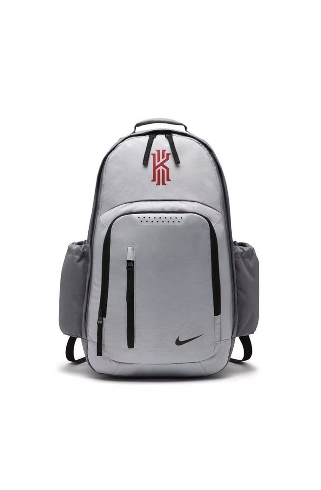 ff1105ab7454 Nike Kyrie Irving Grey Red Laptop Protect 17-Inch Backpack Bag BA5133-065   Nike  Backpack