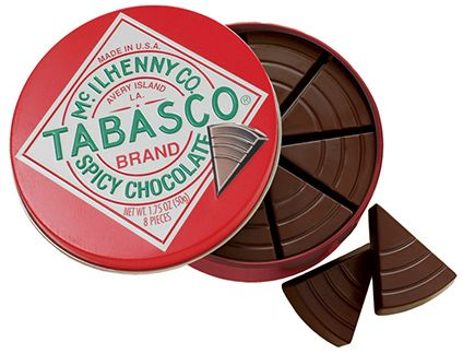 The Tabasco Chocolate Tin is a gift for the lovers of spicy sensations!
