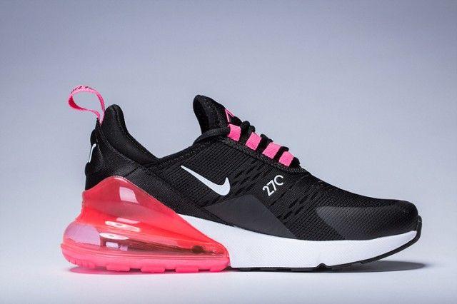 Women S Nike Air Max 270 Black Pink Purple White Girls Running