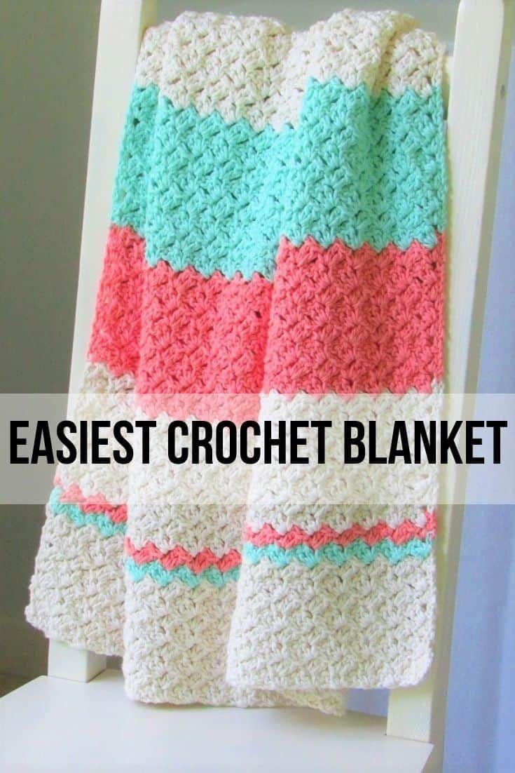 Easy Crochet Blanket for Beginners   Crochet Dreamz   Easy crochet ...