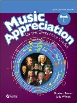 Music Appreciation for the Elementary Grades – Music Appreciation for the Elementary Grades from Zeezok Publishing is designed for Kindergarten through 6th grade.  Their Great Musicians books can also be used with the curriculum.  Together they cover music history and music appreciation.