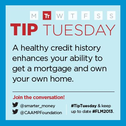 """""""It's important to maintain a healthy credit history to enhance your ability to be able to get a mortgage.""""  - Canadian Association of Accredited Mortgage Professionals (CAAMP)"""