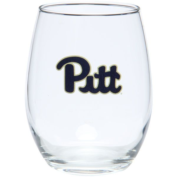 Pitt Panthers 15oz. Stemless Wine Glass - - $11.99