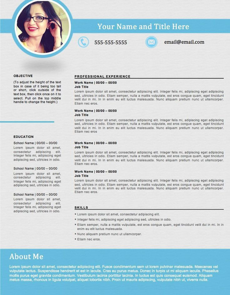 17 Best Ideas About Best Resume Format On Pinterest Best
