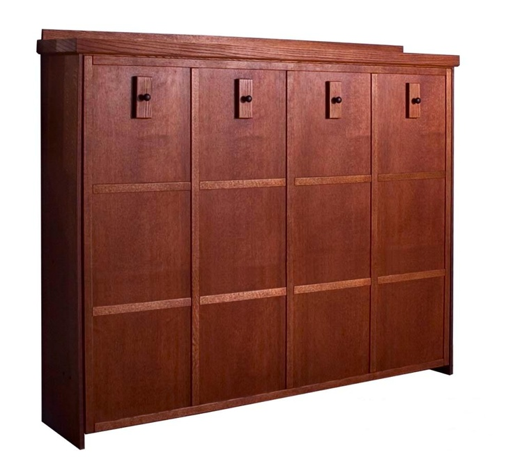 Mission Horizontal Murphy Bed in Oak Cherry Finish